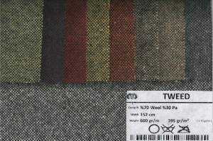 TWEED 70wool+30pa-600g